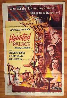 1963 THE HAUNTED PALACE -Price Chaney Corman POE - ORIGINAL POSTER 27x41 1 Sheet