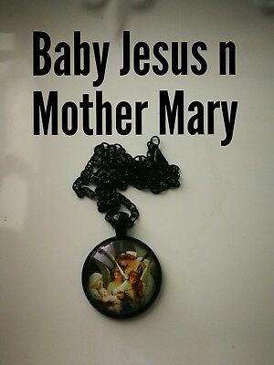 Code 381 Mother Mary infused Necklace Confirmation Holy Communion Catholic Jesus