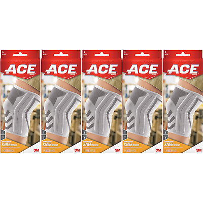 5 Pack - ACE Knitted Knee Brace with Side Stabilizers, Small 1 Each