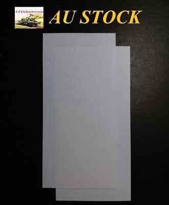 2 pieces ABS plastic BRICK WALL SHEET for diorama / model railway setting