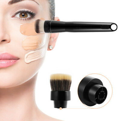 360 Degree Rotating Electric Makeup Brush w/ Foundation and Powder Brushes MT586