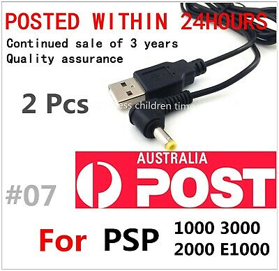 2Pcs USB Charger Charging Cable Power Cable for Sony PSP1000 2000 3000 E1000