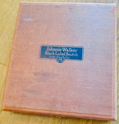 Vintage Box Wood ~ Johnnie Walker Black Label Scotch Collector Box
