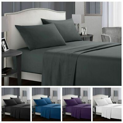 1000TC Egyptian Cotton Double,Queen or King Super Size Bed Sheet Set.4 Pieces