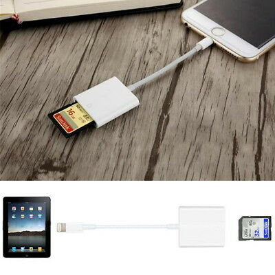 Camera SD Card Reader Adapter Cable for iPhoneXS XR X 8 7 Apple iPad Pro Photo