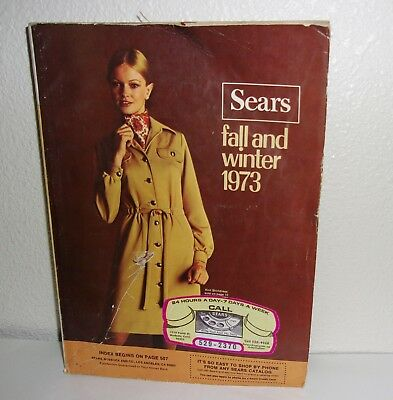 Vintage Sears 1973 Fall and Winter Catalog