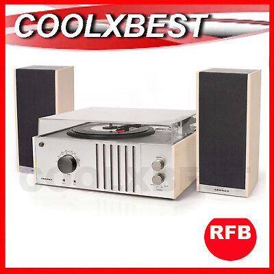 CROSLEY TECH MODERN RETRO 3 SPEED TURNTABLE RADIO with SPEAKERS AUX IN 6018A RFB