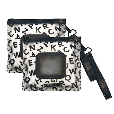 WIPOUCH™ Monochrome ABC Refillable Wet Wipes Pouch Set of 2 WIPOUCH Mini Express