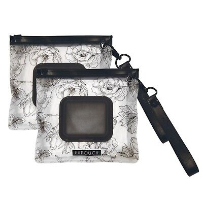 WIPOUCH™ Monochrome Florals Refillable Wet Wipes Pouch Set of 2 WIPOUCH Mini