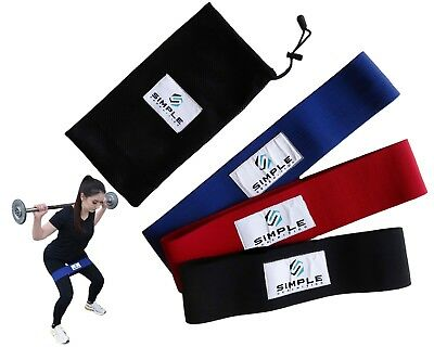 Booty Resistance Workout Hip Exercise Bands – Fitness Loop Circle Set of 3 bands