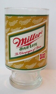 LARGE 1970'S MILLER HIGH LIFE 32 OZ. GLASS, Carnival Fair Style, Beer