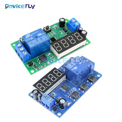 Digital DC 12V LED Display Delay Timer Control Switch Relay Module Automation
