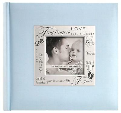 Baby Boy Photo Album 200 Pocket Blue Picture Memory Book Organizer Newborn Gift