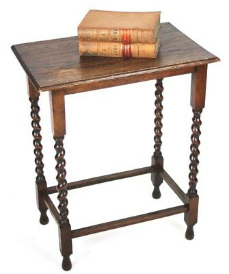 Antique English Oak Barley Twist Occasional Table - FREE Shipping [PL4327R]