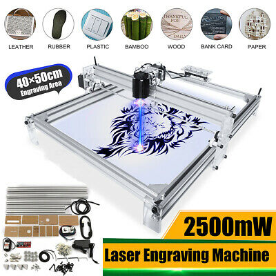 2500MW 40X50CM Mini Desktop Laser Engraving Engraver Machine DIY Logo Printer