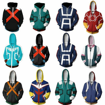 My Boku no Hero Academia Cosplay Kohei Horikoshi Hoodie Gym Sweatshirt Coat Top