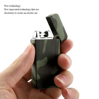 Mini USB Windproof Flameless Electric Lighter Dual Arc Cigarette Rechargeable