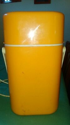 Decor MidCentury Modern 2-Bottle BYO Insulated Wine Drink Cooler Carrier yellow