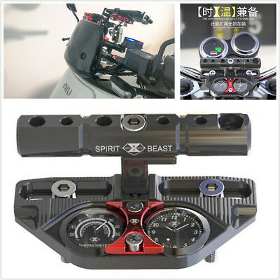 Multifunction Motorcycle Handlebar Extension Bracket Accessories w/Thermometer