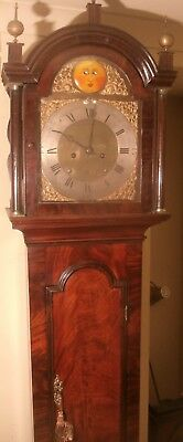"Antique Mahogany ""  Automation Sun Eyes ""  Grandfather / Longcase Clock"