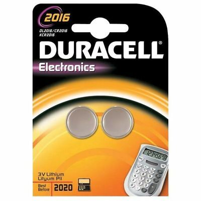 Duracell 5000394203884 DL2016B2 Lithium Coin Cell Battery (Pack of 2)