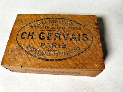 Antique or Vintage French Wood Cheese Boxes Ch GERVAIS PARIS