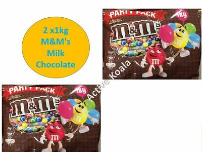 2kg M&M's Milk Chocolate Party Pack Bulk (2x1kg Bag) M&Ms bulk SALE