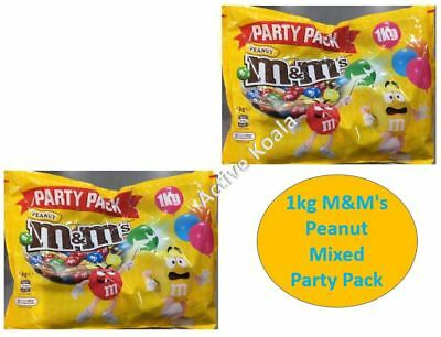 2kg M&M's Peanut Chocolate Party Pack Bulk (2x1kg Bag) M&Ms  Bulk SALE