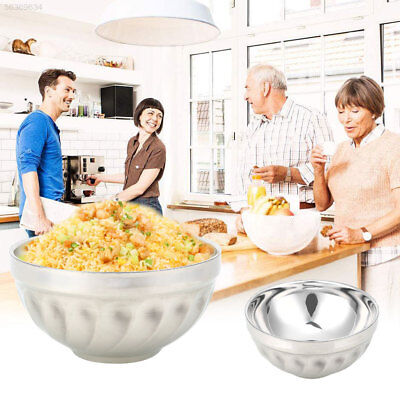 BFAB Silver Color Stainless Steel Bowls Kitchen Rice Hard