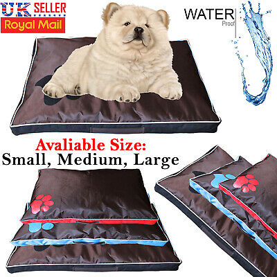 Deluxe Pet Dog Bed Mat Soft Cushion Mattress Luxury Pillow Warm Washable Cover