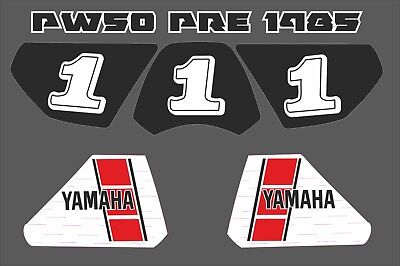 pw50 decals graphics yamaha pw 50 peewee laminated  pre 1985 set stickers