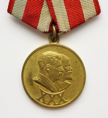 Original Soviet Russian USSR Medal 30 XXX Years of the Soviet Army and Navy Nice