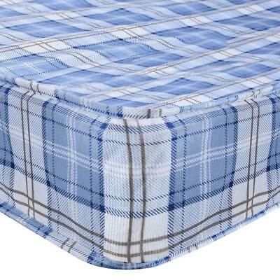 2FT6 3FT Single 4FT Double Economy BLUE Grids Fabric Bed Mattress Wholesales