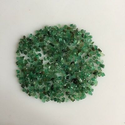 40 Ct Scoop Tiny Natural Emerald Green Rough Gemstones Loose Mineral Lot Raw