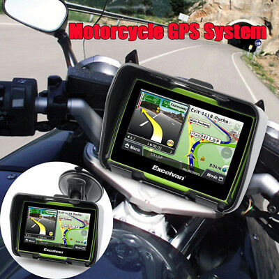 Waterproof Bluetooth Motorcycle GPS Navigation System Navigator 8GB Touch Screen