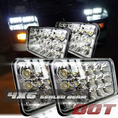 4x6'' Hi/Lo Beam Headlights Lamps For Kenworth T400 T600 T800 Classic 120/132 4P