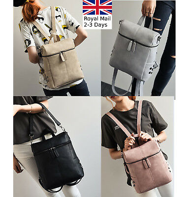 Ladies Women Multi Designed Leather Backpack Shoulder Bag Crossbody Handbag Tote