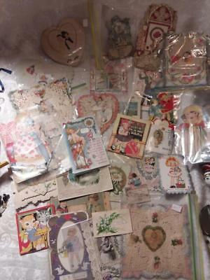 Lot of Vintage/Antique Valentine Day Cards, Used