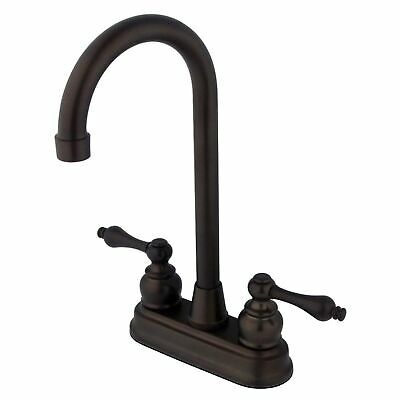 "Kingston Brass Victorian Two Handle 4"" Centerset High-Arch Bar Faucet"