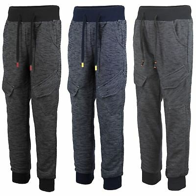 Kids Tracksuit Bottoms Marl Print Teens Girls Joggers Boys Sweatpants 3-14Y