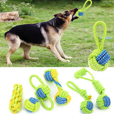 Dog Toy Chews Cotton Rope Knot Ball Grinding Teeth Odontoprisis Pet Toys Large
