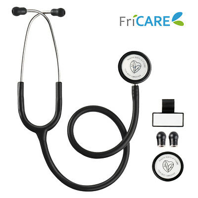 """FriCARE Dual Head Stethoscope Tunable Diaphragm Soft Eartips Medical Gift 28"""""""