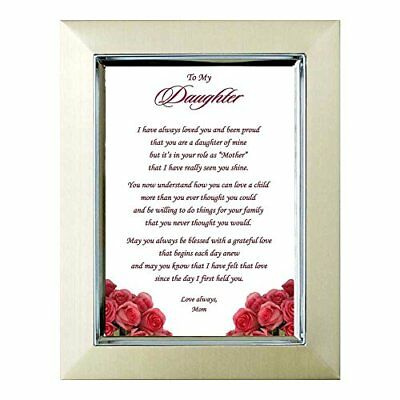 Adult Daughter Birthday or Christmas Gift from Her Mom - Poem in 5x7 Inch Frame