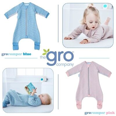 18 Stripe Grobag Baby Gro Suit quilted arms sleeping bag Gro Suit Sleepsuit 12