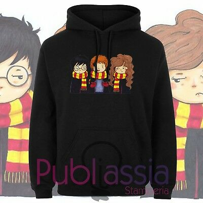 Harry Potter Felpe Cappuccio Girocollo 39 Severus Piton idea regalo uomo donna