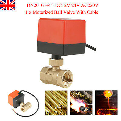 "12V /24V /220V G3/4"" DN20 2 Ways Control Brass Motorized Electrical Ball Valve"