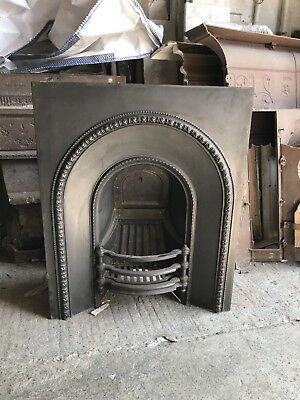 Beautiful Original Victorian Cast Iron Fireplace Insert (with kite mark stamps)