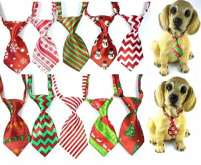 Christmas Dog Necktie Bow Tie Xmas Tie New Collar Holiday Adjustable Pet Clothes