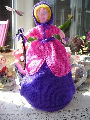 New Hand Knitted Little Bo Peep Tea Cosy~Large