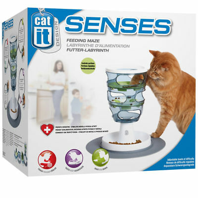 Catit Design Senses Cat Food Maze Feeding Toy Tray Mat Kitten Play Treat